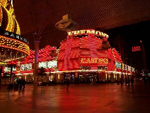 Fremont street, where all the big casinos are